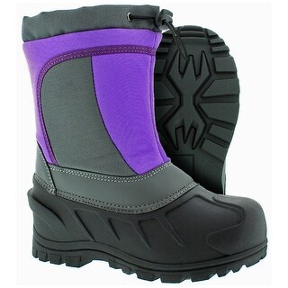 Itasca Boys Cerebus Mid-Calf Pull On Snow Boots, Purple, Size 1 Kids - 1 kids