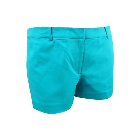 Michael Michael Kors Women's Mini Shorts (14, Tile Blue) - Tile Blue - 14