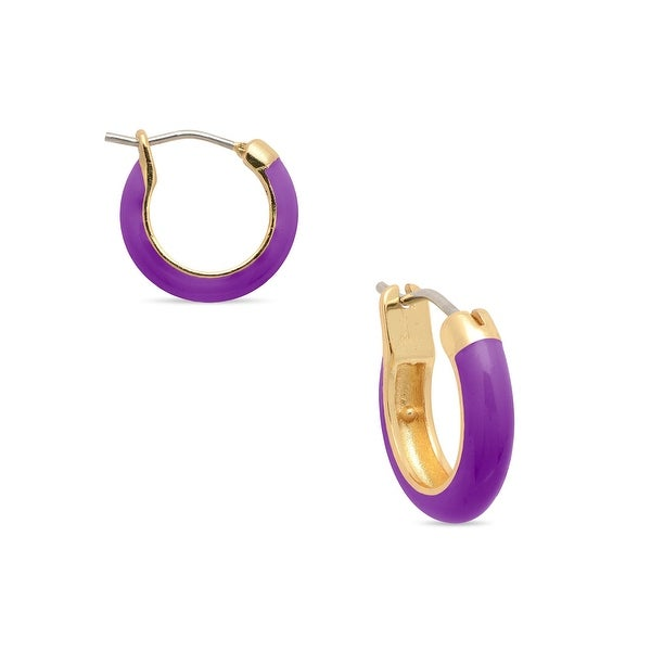 Lily Nily Girl's Purple Hoop Earrings