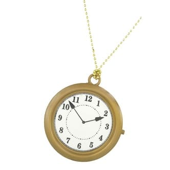 Oversized Rappers Clock Necklace Costume Accessory - One-Size: Regular