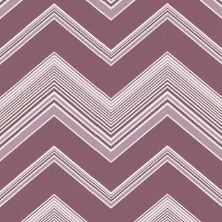 Brewster 2533-20241 Bearden Purple Zig Zag Wallpaper