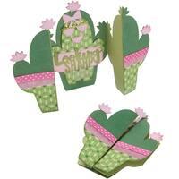 Sizzix Thinlits Dies By Jen Long 7/Pkg-Cactus Fold-A-Long Card