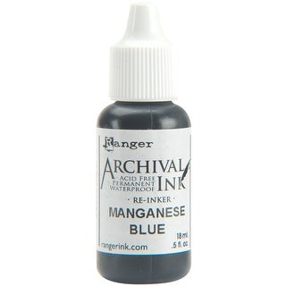Archival Pad Re-Inker .5oz-Manganese Blue
