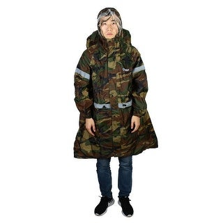 BLUEFIELD Authorized Hiking Riding Raincoat Rain Poncho Camouflage Color Size S