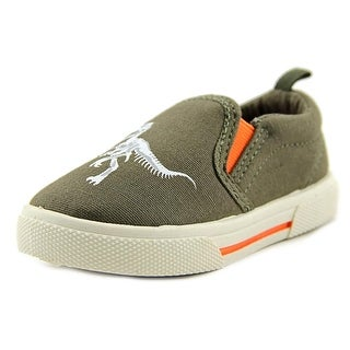 Carter's Damon4 Toddler Round Toe Canvas Green Loafer