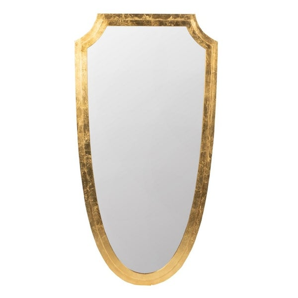 """46"""" Gold Contemporary Style Framed Oval Wall Mounted Mirror - N/A"""