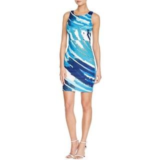 Aqua Womens Mini Dress Neoprene Printed