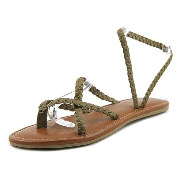 Mia Lexxa Women Open Toe Leather Brown Gladiator Sandal