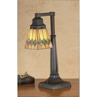 Meyda Tiffany 48214 Stained Glass / Tiffany Accent Desk Lamp from the Martini Mission Collection - tiffany glass