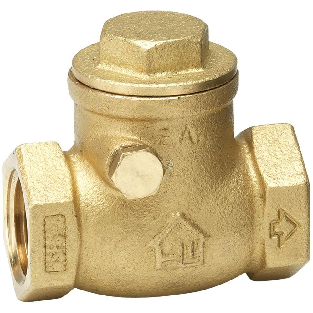 Homewerks 240-2-34-34 Lead-Free Brass Threaded Swing Check Valve, 3/4 FIP