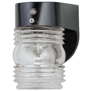 Westinghouse 66949 Poly Jelly Jar Fixture With Photocell, 60 Watts