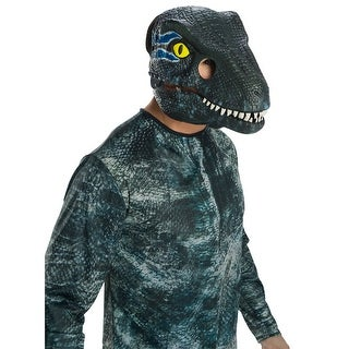 Adult Jurassic World Blue Velociraptor Movable Jaw Mask - standard - one size