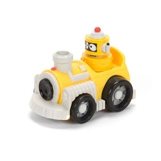 "Yo Gabba Gabba 4"" Figure: Plex in Yellow Car"