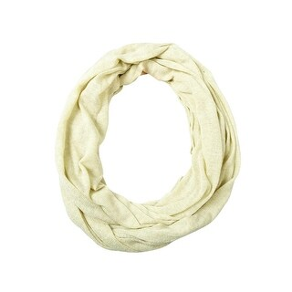 Style & Co. Women's Metallic Stripe Infinity Scarf - Whisper White - os