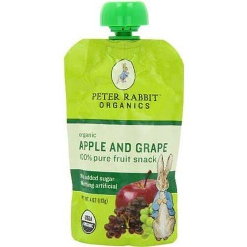 Peter Rabbit Organics - Apple & Grape Puree ( 10 - 4 OZ)