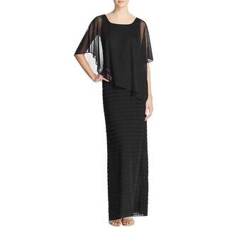 Adrianna Papell Womens Evening Dress Tiered Asymmetric - 12