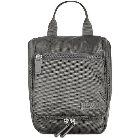 Perry Ellis Men's Bag Black Ballistic Water Resistant Travel Kit
