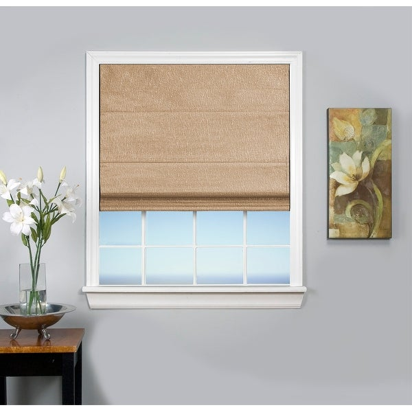 Monet Cordless Thermal Insulated, Room Darkening, Cordless Roman Shade. Opens flyout.