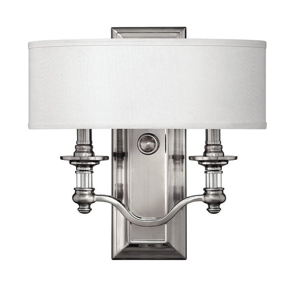 Hinkley Lighting H4900 2-Light ADA Compliant Indoor Double Sconce Wall Sconce from the Sussex Collection - Brushed nickel
