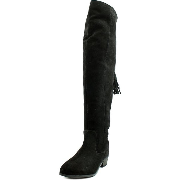 Musse & Cloud Apsel Women Round Toe Suede Black Over the Knee Boot