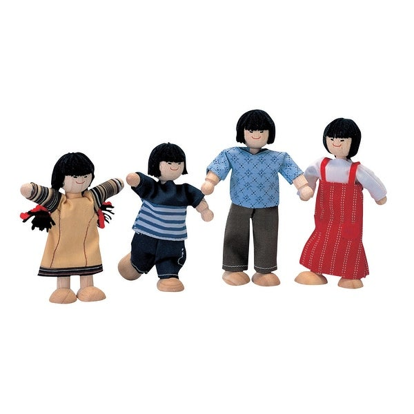 Plantoys Wooden Doll Family Asian Set Of 4