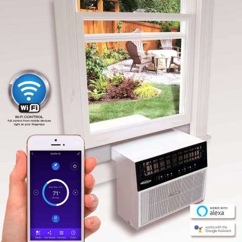 Soleus Air 8,000 BTU Hybrid Saddle Window Air Conditioner with Wifi