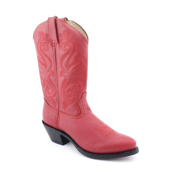 Durango RD4105 Women Round Toe Leather Red Western Boot