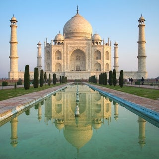 Taj Mahal - India  - Architecture - 36x36 Matte Poster Print Wall Art