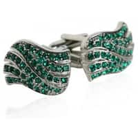 Green Wave Cufflinks