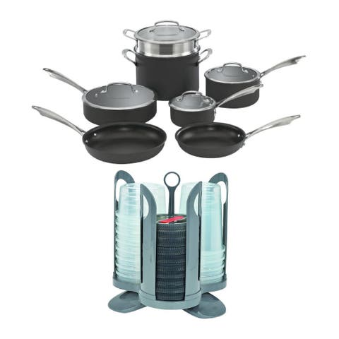 Cuisinart Anodized 11-Piece Cookware Set with Storage Containers