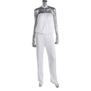 Young Fabulous & Broke Womens Open Back Strapless Jumpsuit - M