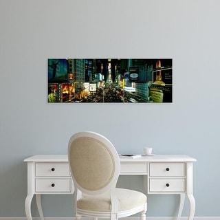Easy Art Prints Panoramic Image 'High angle view of Times Square, Manhattan, New York City, New York State' Canvas Art