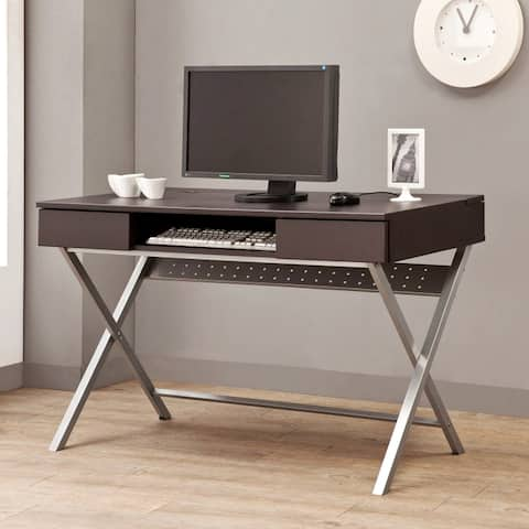 Modern Design Home Office Computer Writing Desk with Chrome Legs
