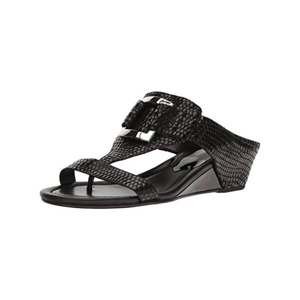 Donald J. Pliner Womens Daun Slide Sandals Snake Print Demi Wedge