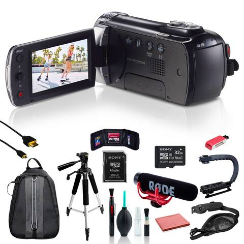 Samsung HMX-F90 Camcorder w/ 11pc Accessories + 32GB SD Card Bundle