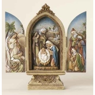 "Pack of 2 Joseph's Studio Religious Christmas Nativity Triptych Decorations 9"" - N/A"