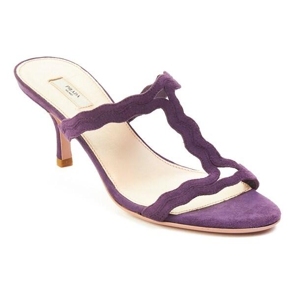 Prada Women's Suede High Heel Shoes Purple