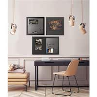 Bi-Silque Visual Communication Products  Black Shadow Message Board