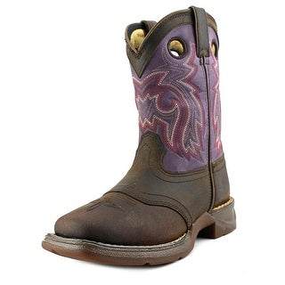 Durango Lil Durango Youth Pointed Toe Leather Purple Western Boot
