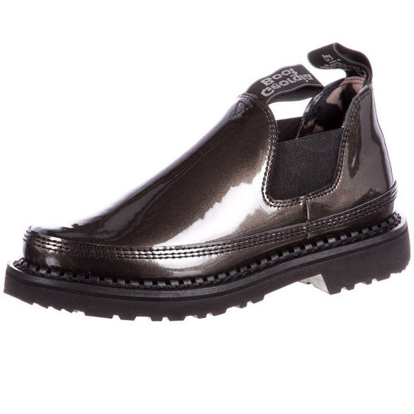 Georgia Boot Work Womens Giant Patent Leather Slip On Black
