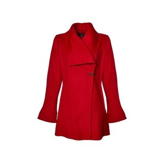 Laundry by Shelli Segal Shawl Collar Wool Blend Coat