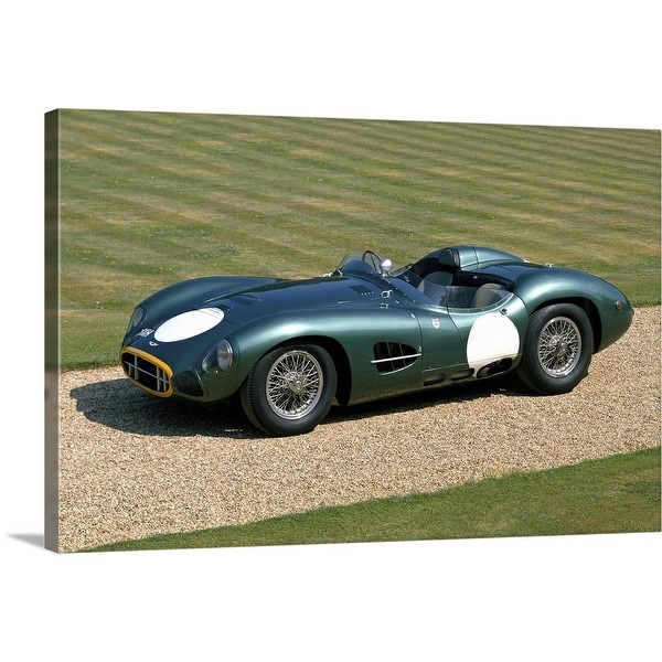 """1957 Aston Martin DBR2 4.2 litre V12 sports racing 2-seater"" Canvas Wall Art"