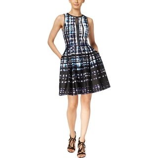 Vince Camuto Womens Casual Dress Printed Leather Trim