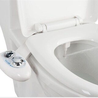 Costway Fresh Water Spray Non-Electric Mechanical Bidet Toilet Seat Attachment Bathroom - White