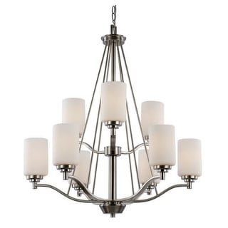 trans globe lighting mod space urban inspiration 9 light two tier chandelier