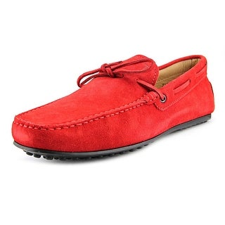 Tod's Laccetto City Gommino Men A Moc Toe Suede Red Loafer