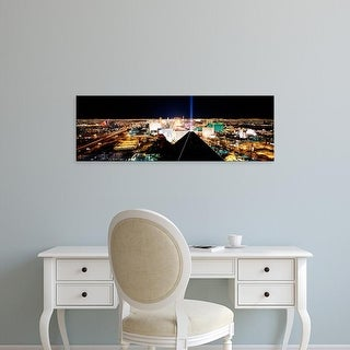 Easy Art Prints Panoramic Image 'View of a city from Mandalay Bay Resort and Casino, Las Vegas, Nevada' Canvas Art