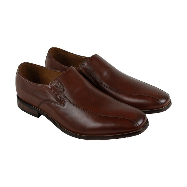 Bostonian Narrate Step Mens Brown Leather Casual Dress Slip On Loafers Shoes