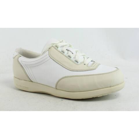 Hush Puppies Womens Classic Walker Beige Walking Shoes Size 6.5 (Wide)
