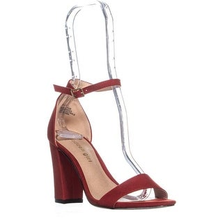 madden girl Beella Ankle Strap Dress Sandals, Bright Red
